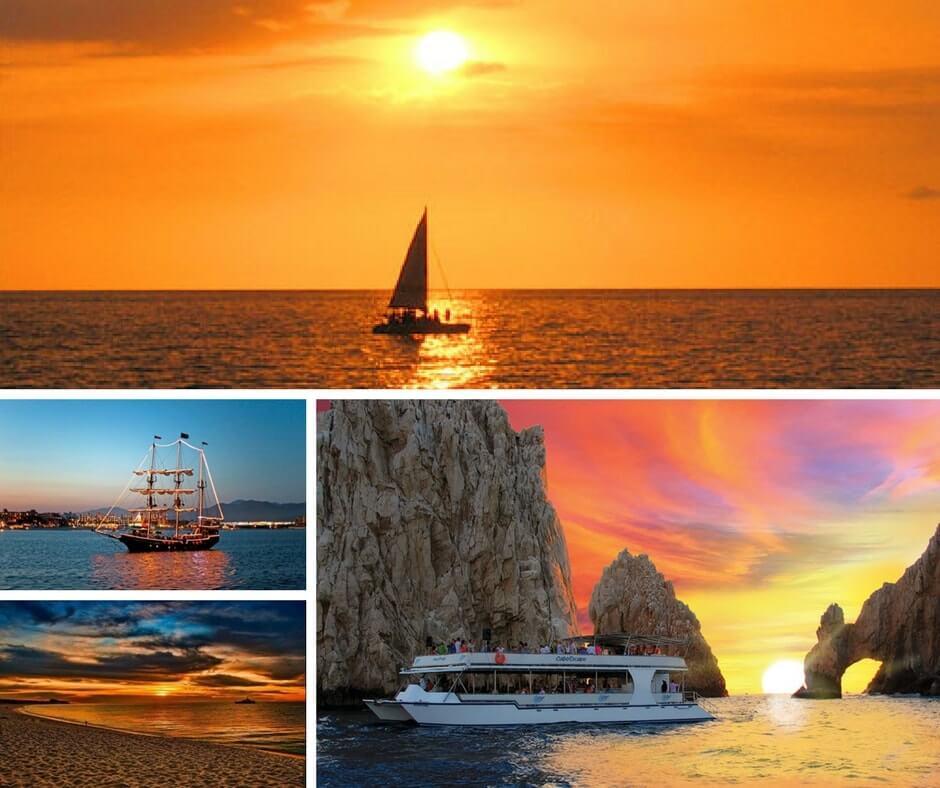 закат на яхте в Мексике фото
