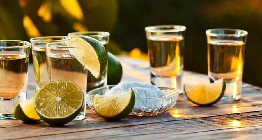 фото текила и лимон
